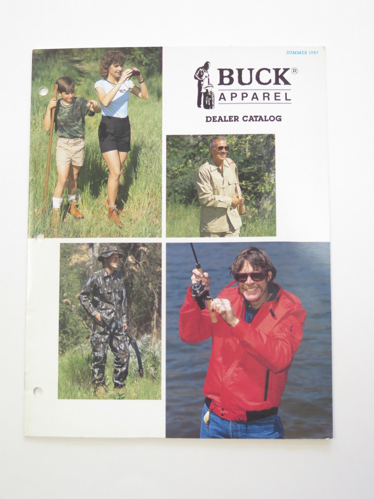 1987 BUCK KNIVES APPAREL CLOTHES DEALER CATALOG BOOK BROCHURE 110 124 119 184