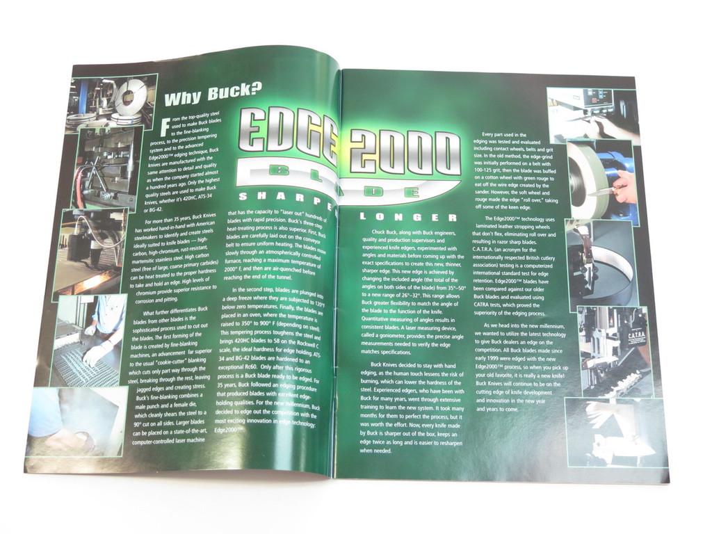 2000 BUCK DEALER KNIFE CATALOG PRICE LIST BOOK FIXED FOLDING 110 124 119 184