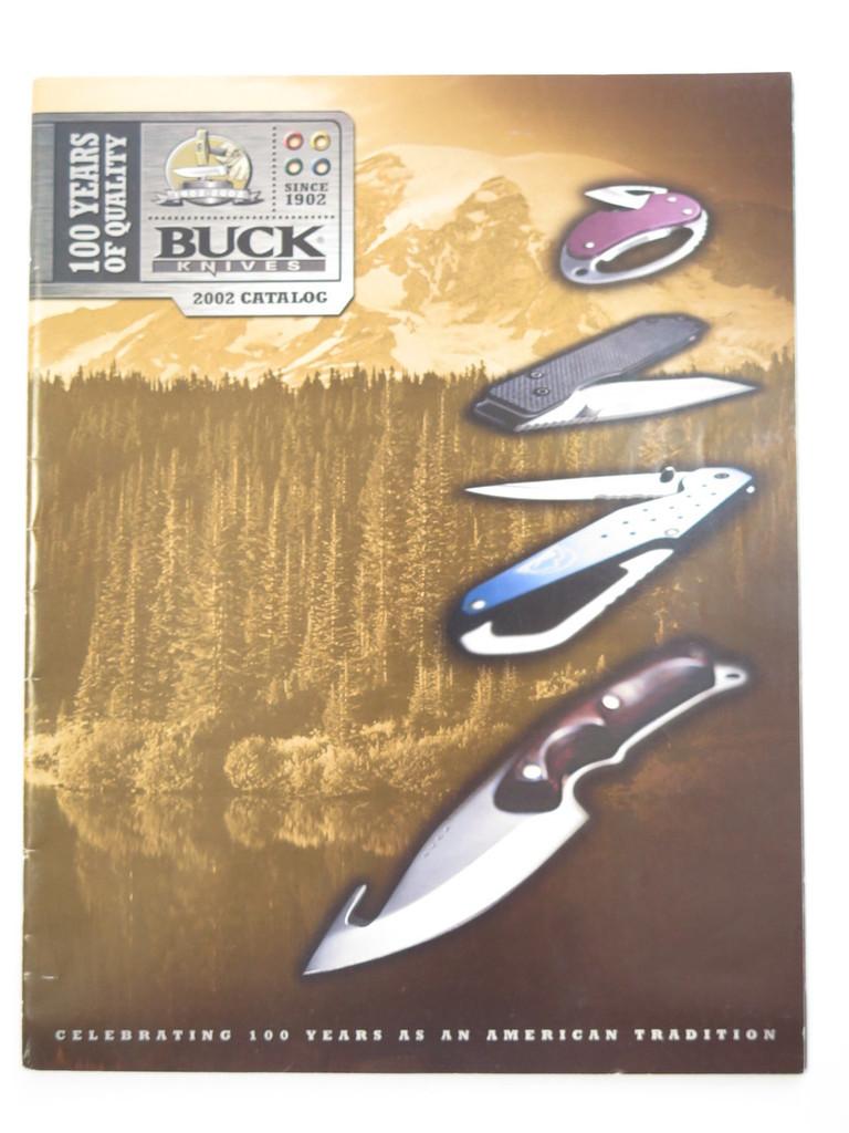 2002 BUCK DEALER KNIFE CATALOG MERCHANDISE BOOK FIXED FOLDING 110 124 119 184