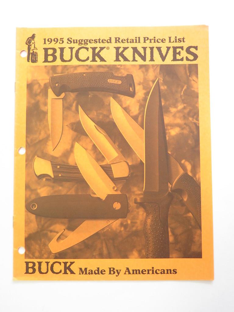1995 BUCK DEALER KNIFE RETAIL PRICE LIST CATALOG FIXED FOLDING 110 124 119 184