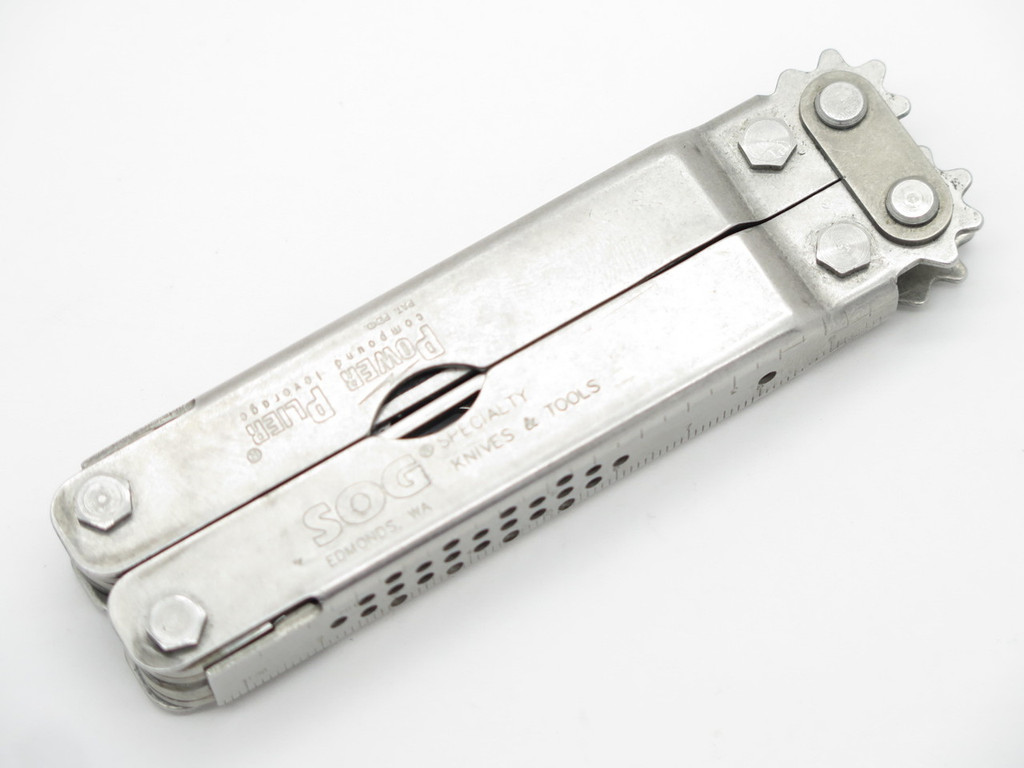 ORIGINAL SOG EDMONDS USA POWER PLIER FOLDING KNIFE MULTI TOOL PLIERS & SHEATH
