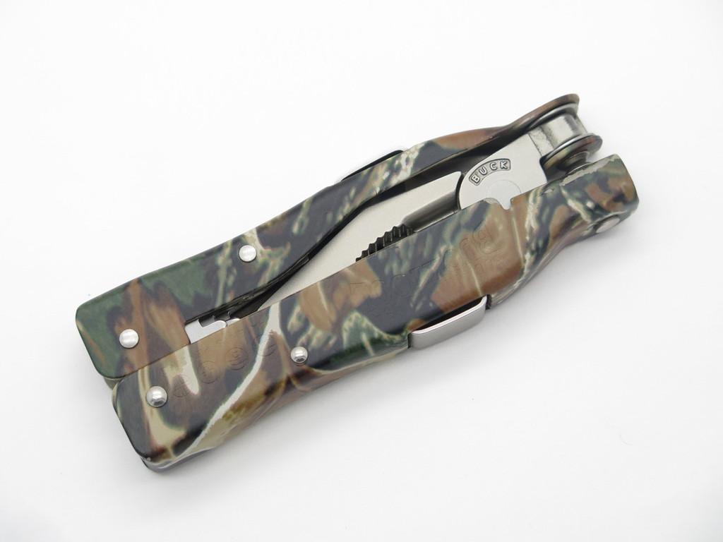 BUCK 360 BUCKTOOL CAMO KNIFE SCREWDRIVER PLIER MULTI TOOL VTG NOS PATENT PENDING