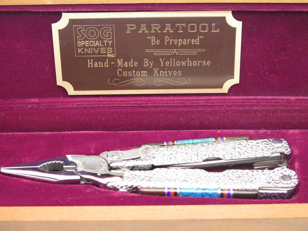 VTG SOG USA PARATOOL CUSTOM DAVID YELLOWHORSE FOLDING KNIFE MULTI TOOL PLIERS