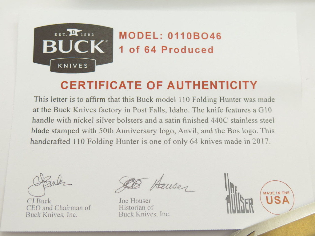 BUCK 110 50th ANNIVERSARY FOLDING HUNTER KNIFE 440C LOCHSA STYLE CUSTOM BUILDOUT