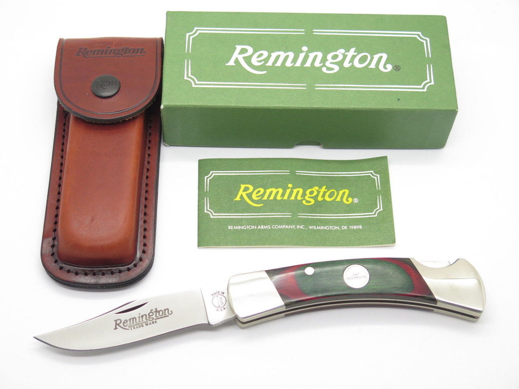 1994 REMINGTON UMC USA R-9 OUTDOORSMAN FOLDING HUNTER KNIFE FIRST RUN