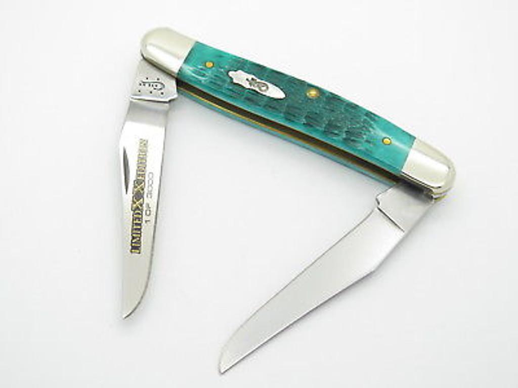 2015 CASE XX MUSKRAT FOLDING POCKET KNIFE 11668 LIMITED EDITION JADE GREEN