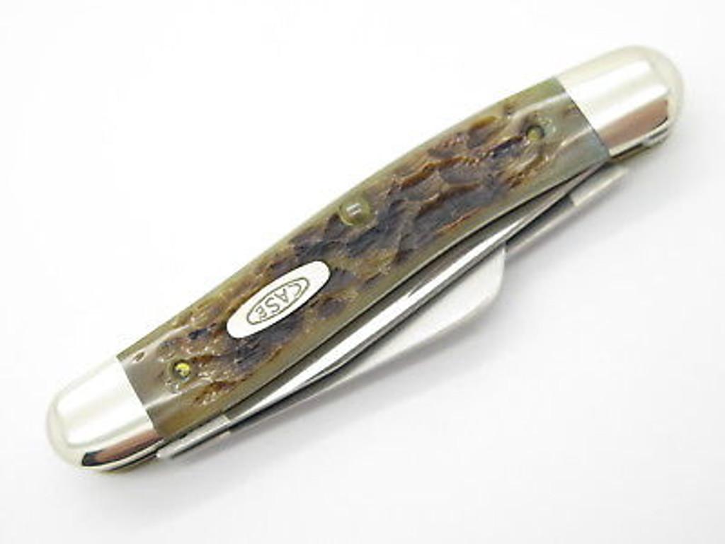 1991 CASE XX 6318 HPSSP STOCKMAN FOLDING POCKET KNIFE HOLLOW RAZOR EDGE