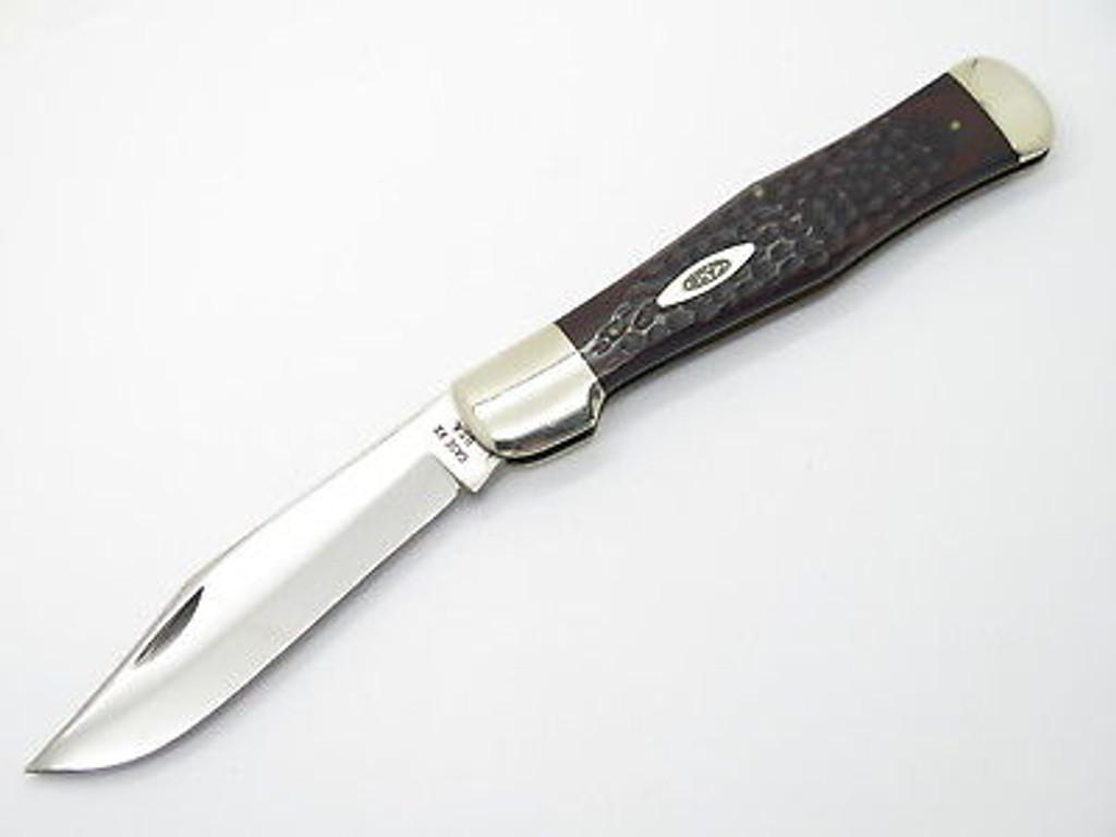 1965-1969 CASE XX 61050 COKE BOTTLE FOLDING HUNTER KNIFE WOOD NEAR MINT