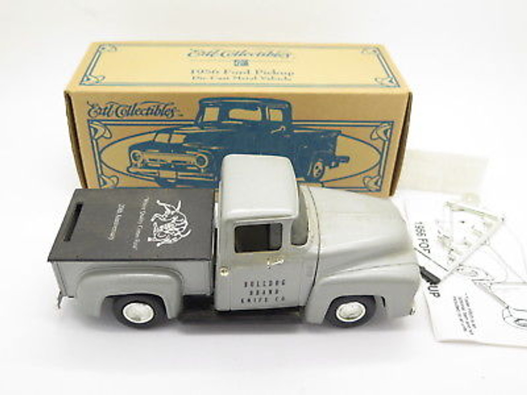 1990s BULLDOG BRAND KNIFE CO 20th ANNIVERSARY FORD 1956 PICKUP MODEL MONEY BANK
