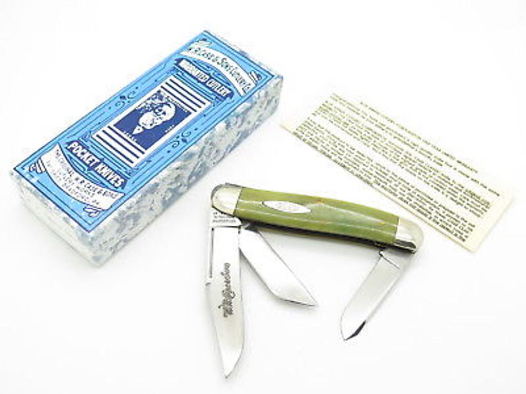 1997 CASE CLASSIC TESTED XX 6340 GREEN STOCKMAN FOLDING POCKET KNIFE