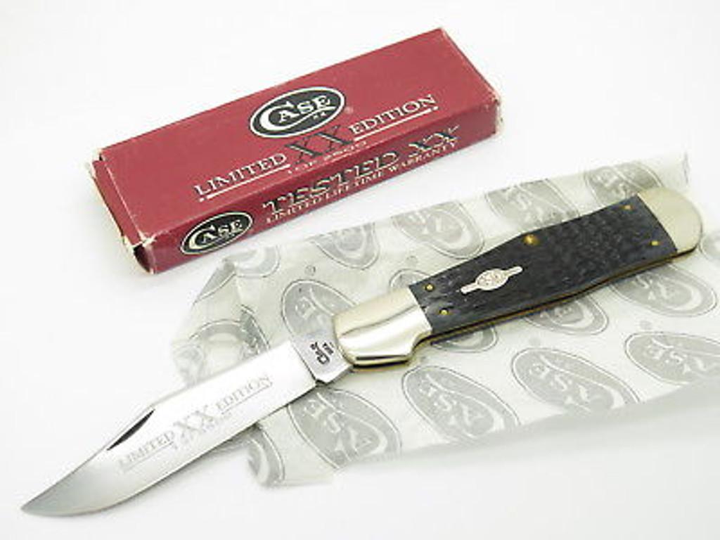 1997 CASE XX 61050 COKE BOTTLE FOLDING HUNTER KNIFE BLACK BONE LIMITED