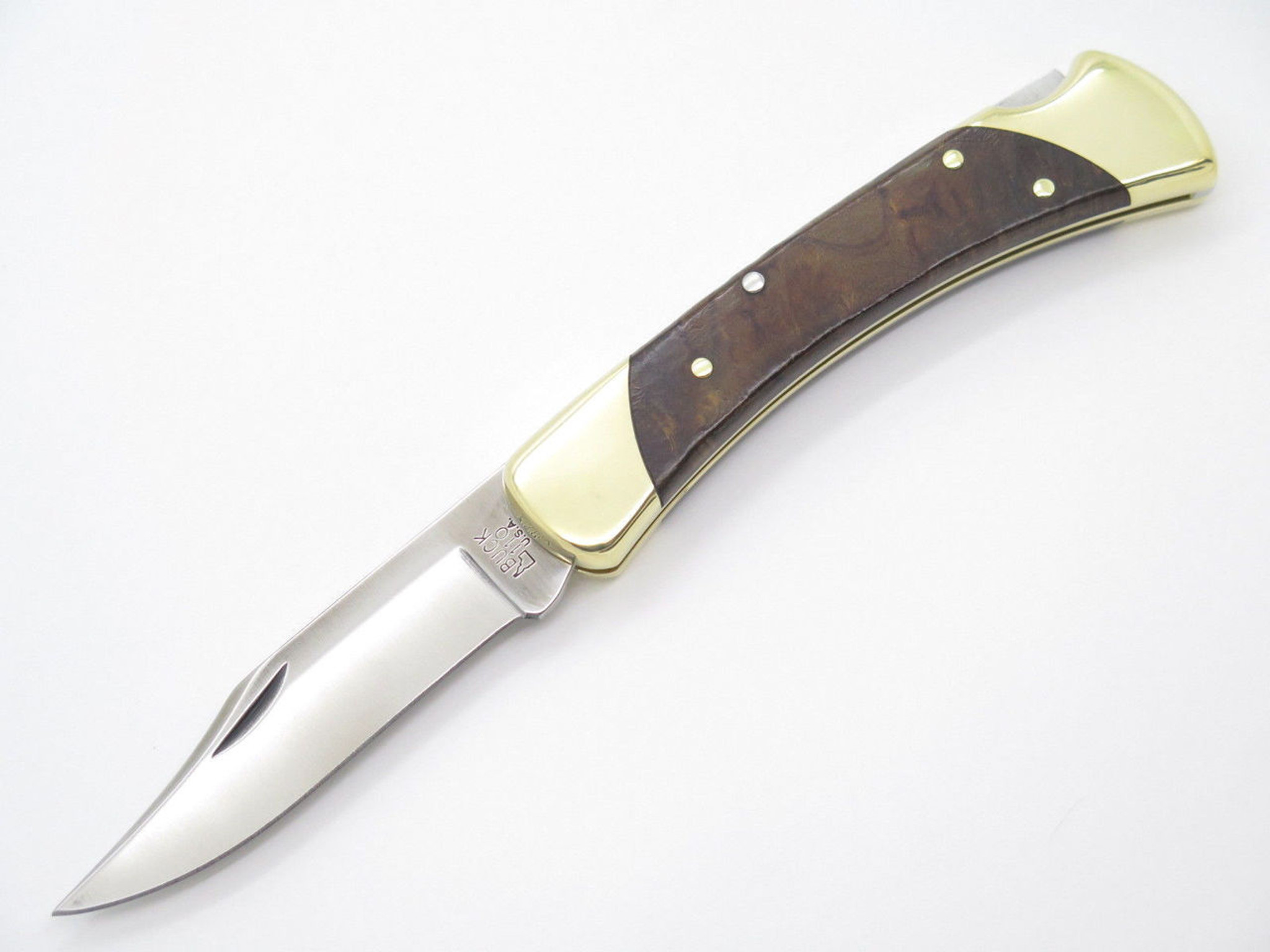 BUCK 111 111BOLC1 FOLDING HUNTER LOCKBACK KNIFE CUSTOM LIMITED IRONWOOD  S30V 110