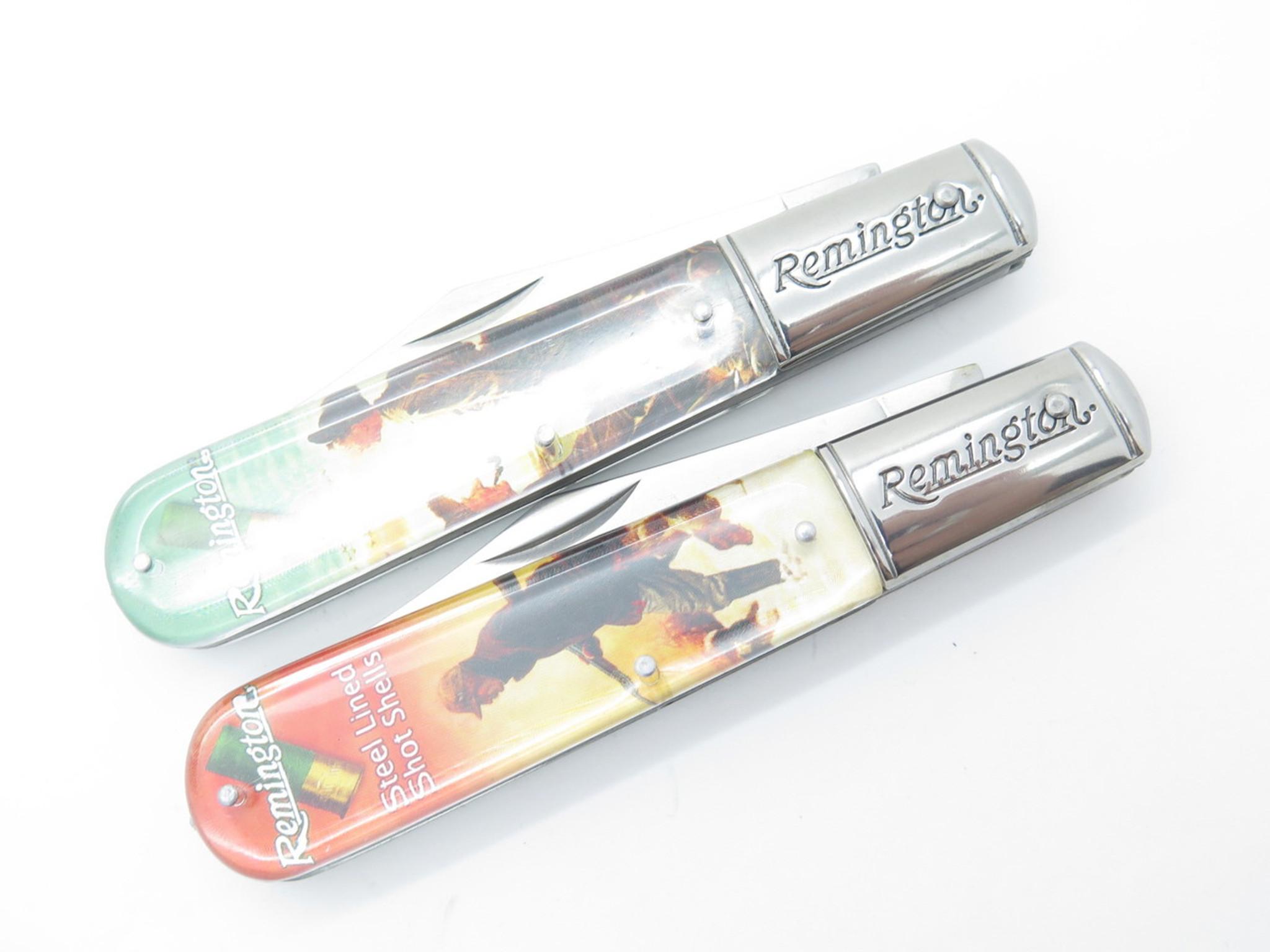 REMINGTON VINTAGE SERIES SET LOT OF 12 FOLDING BARLOW POCKET KNIFE in CASE