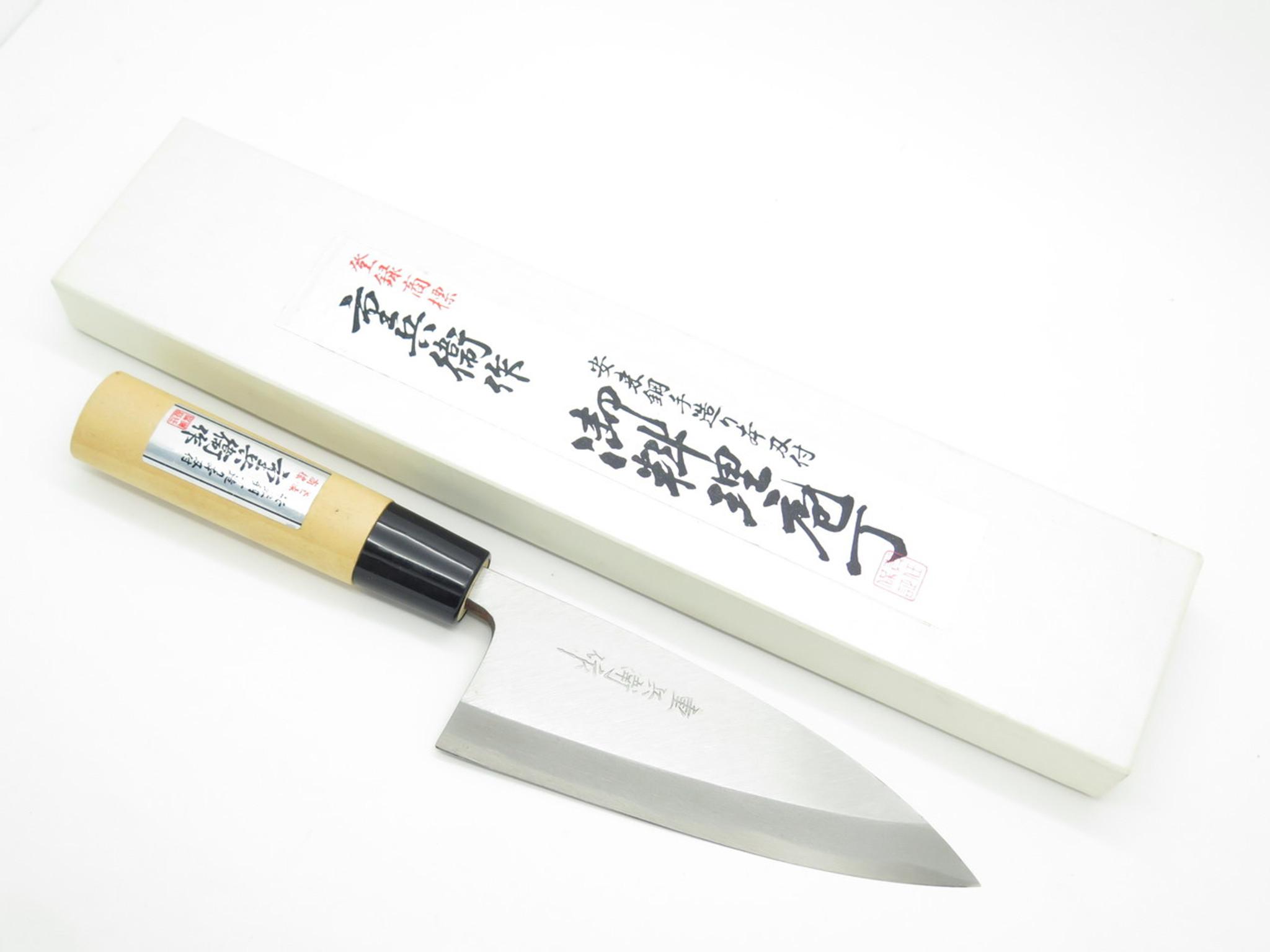 Enjoyable Vintage Jyubei Seki Japan 135Mm Deba Sushi Chef Fish Kitchen Cutlery Knife Download Free Architecture Designs Scobabritishbridgeorg