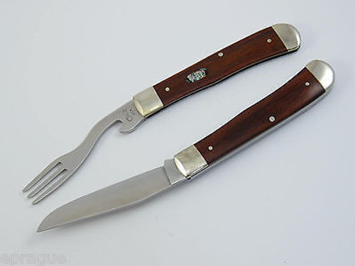 1999 CASE XX 7254 PEARL PREMIERS LIMITED 1/100 ROSEWOOD HOBO TRAPPER KNIFE TIN