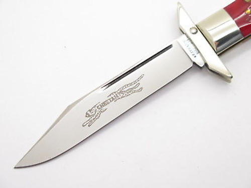 Case Classic XX 61011 1/2 Red Bone Cheetah Arrow Shield Swing Guard Folding Knife