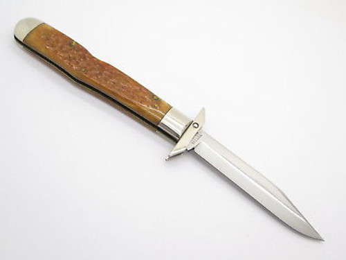 Case Classic XX 61011 1/2 Cheetah Bomb Shield Swing Guard Bone Folding Knife