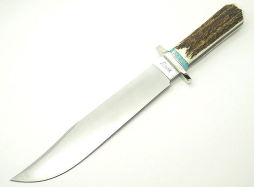 Custom Leroy Remer Marbles Trailmaker Coffin Elk Stag Bowie Knife ~R4 Prototype~