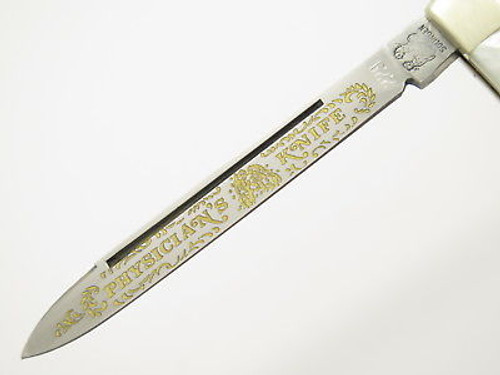 Circa 1990 Fight'n Rooster Frank Buster Mother Of Pearl Doctor Folding Knife