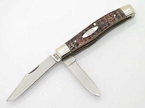 Vtg 10 Dot 1980 Case XX 62032 Jigged Bone Folding Pocket Jack Knife