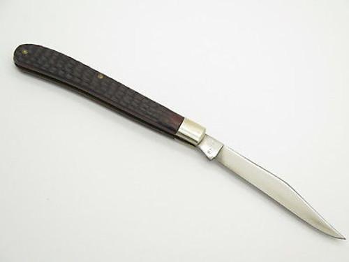 Vtg 1976 Case XX 61048 Slim Line Trapper Delrin Folding Pocket Knife