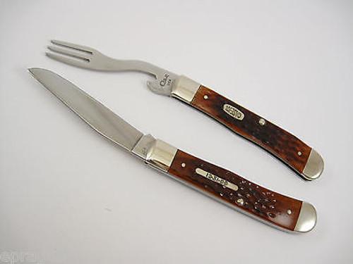 Case XX 6254 # 09845 Brown Bone Hobo Trapper 12-31-99 Shield Pocket Knife