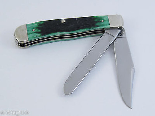 2002 CASE XX SELECT 6254 SS #02458 BURNT GREEN TRAPPER FOLDING KNIFE RARE