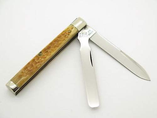 Case Classic XX 62085 Honey Jigged Bone Doctor Physicians Folding Pocket Knife