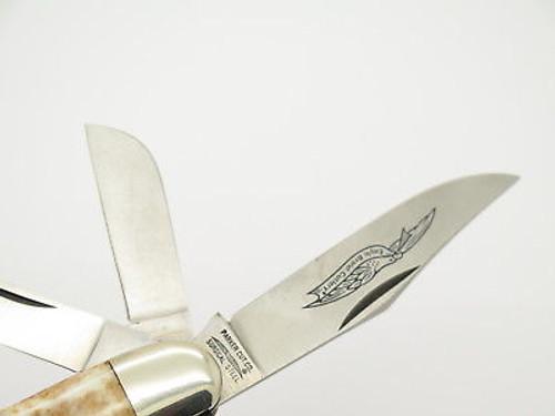Vintage Parker Seki Japan 5 Blade Bone Sowbelly Folding Pocket Knife & Box 80's