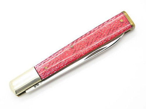 Vintage Parker Cut Co Doctor Physician Red Glitter Folding Pocket Knife Seki Japan