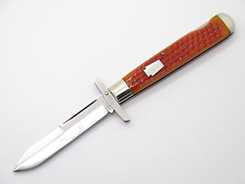 1994 QUEEN 04191L CLASSIC CHEETAH STYLE SWING GUARD FOLDING KNIFE & CASE