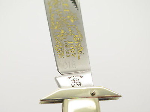 '97 Fight'n Rooster Frank Buster Steel Magnolias Cheetah Swing Guard Knife