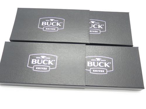"Pack of 2 Buck Knife Folding Pocket Fixed 3 5/8"" x 7 3/8"" Black Gift Cases"