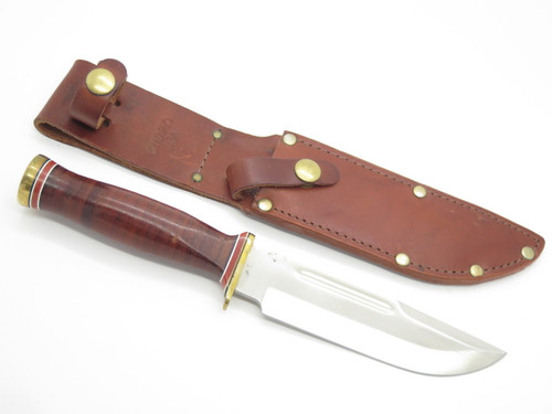 Ontario P3 6310 Army-95 Quartermaster Combat Survival Fixed Blade Knife Leather