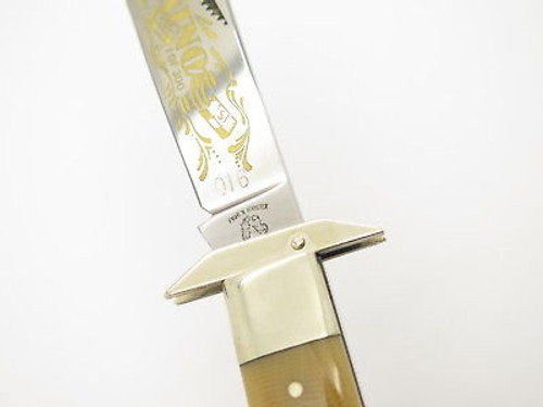 '97 Fight'n Rooster Frank Buster Casino Cheetah Swing Guard Lg Folding Knife