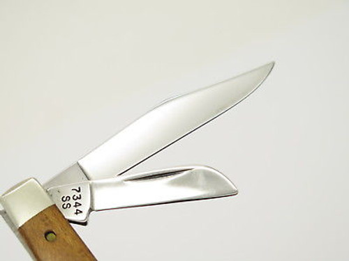 1989 Case XX 7344 Stockman Folding Pocket Knife Curly Maple Handle