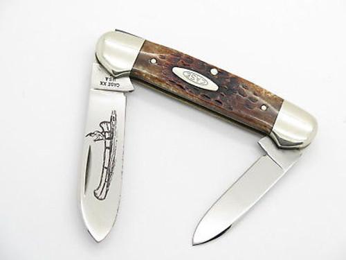 Vtg 1979 Case XX 62131 Jigged Bone Canoe Folding Pocket Knife