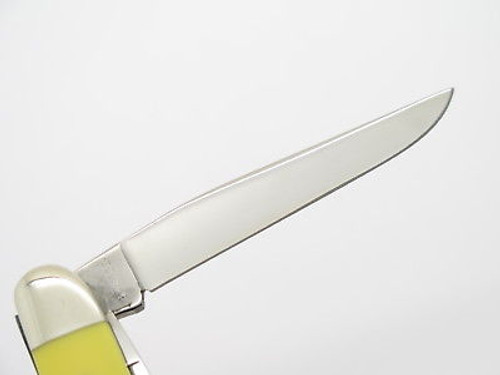 Vtg 1980 Case XX 3318 Yellow Delrin Medium Stockman Folding Pocket Knife