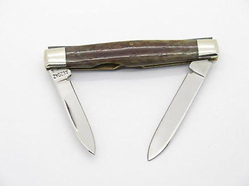Vtg 1980 Case XX 62042 Small Appaloosa Bone Folding Pocket Knife