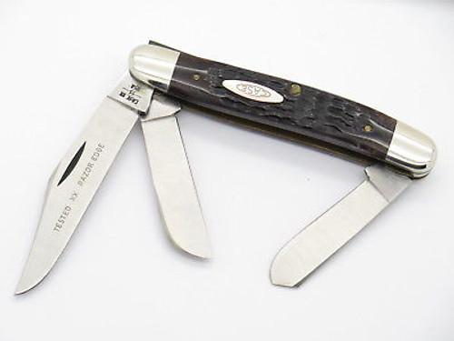 Vtg 1980 Case XX 6347 Stainless Stockman Jigged Bone Folding Pocket Knife