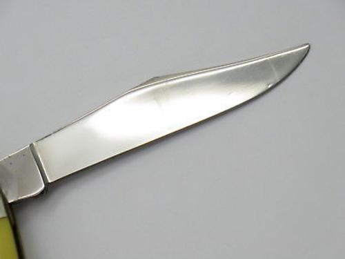 Vtg 1980 Case XX 03244 Yellow Delrin Folding Small Folding Pocket Pen Knife