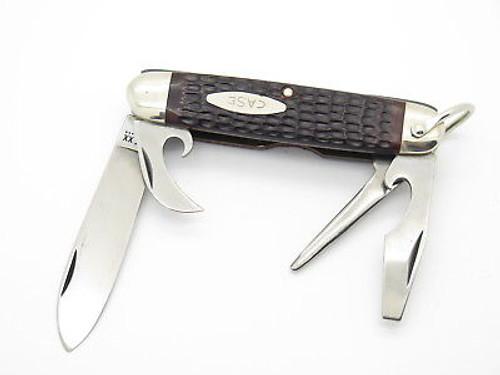 Vtg 1980 Case XX 640045 Camper Jigged Delrin Folding Pocket Camp Knife