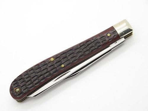 Vintage 1980 Case XX 62048 Slim Line Delrin Trapper Folding Pocket Knife