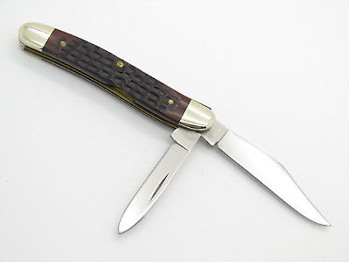 Vintage 1980 Case XX 62087 Jigged Delrin Folding Serpentine Jack Pocket Knife