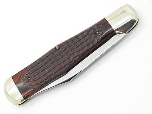 Vtg 1974 Case XX 61050 Coke Bottle Folding Hunter Knife Jigged Wood 6 Dot