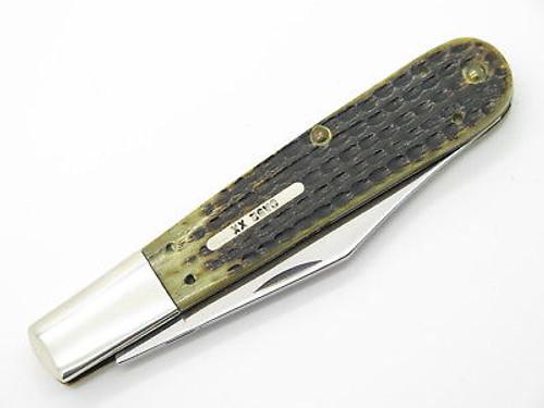 '96 CASE XX 6143 GRANDDADDY BARLOW FOLDING HUNTER KNIFE GREEN BONE LIMITED