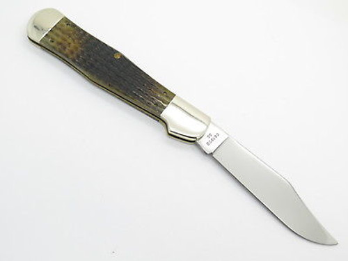 1996 CASE XX 61050 COKE BOTTLE FOLDING HUNTER KNIFE GREEN BONE LIMITED