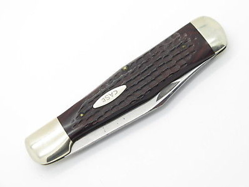 Vtg 1974 Case XX 61050 Coke Bottle Folding Hunter Knife Jigged Wood Used