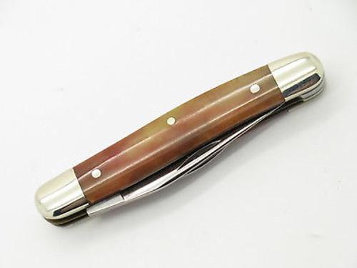 Vtg 1980 10 Dot Case XX 62027 Red Appaloosa Bone Folding Pocket Jack Knife