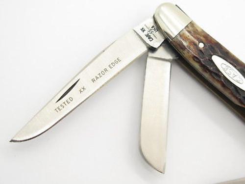 Vtg 1980 Case XX 6318 Stainless Stockman Jigged Bone Folding Pocket Knife